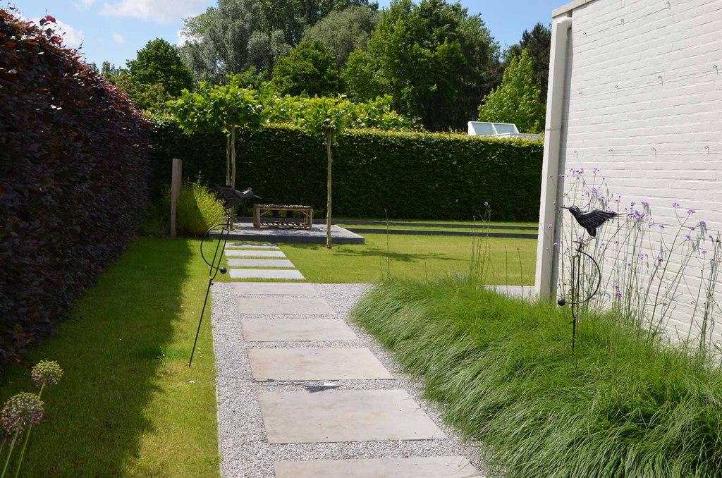 Strak minimalistische kleine tuin - Vereecke Lieven